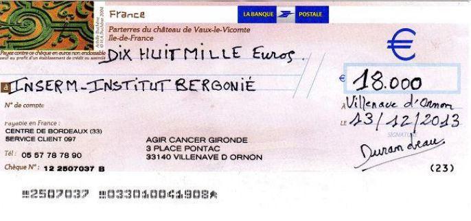 cheque association cancer