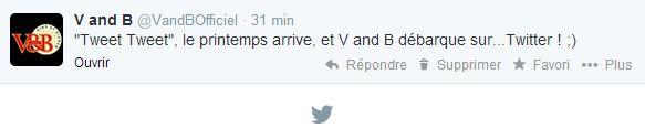 1er tweet V and B