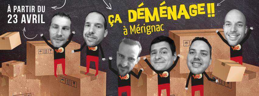 V and B Mérignac déménage