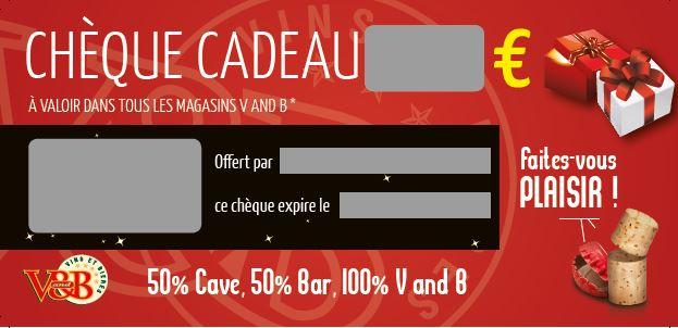 Chèque Cadeau V and B