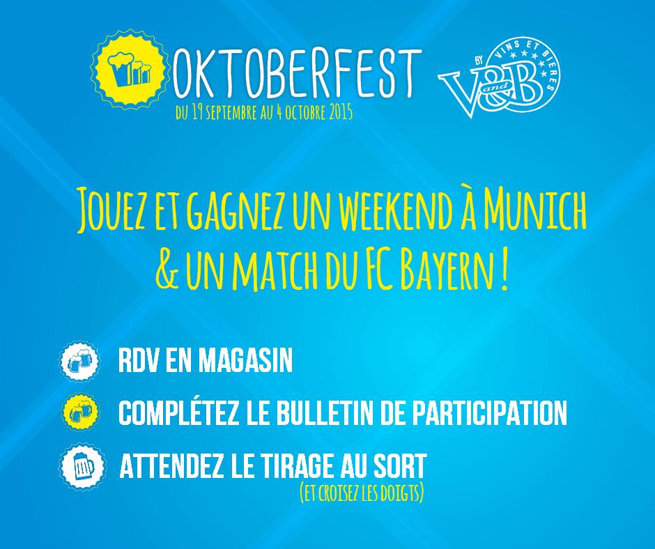 Jeu concours Oktoberfest 2015 - V and B