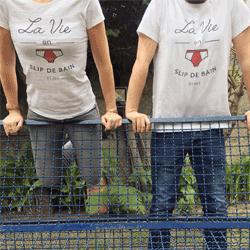 Photo tee shirt V and B