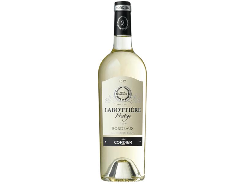 Bouteille vin blanc AOP Bordeaux Blanc Cordier Labottière prestige.