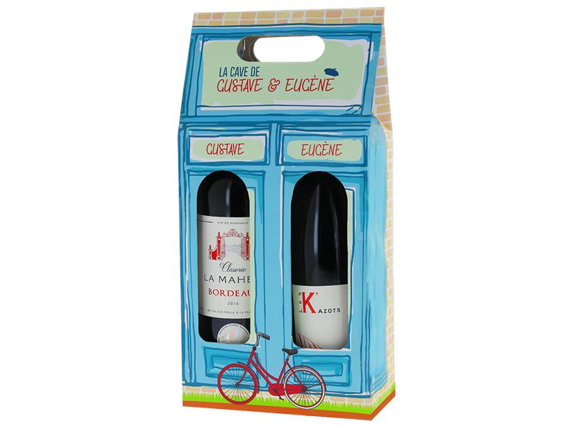 coffret vin deux bouteilles gustave et eugène