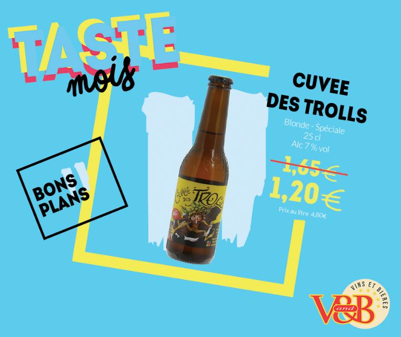 cuvée des trolls bière belge v and b