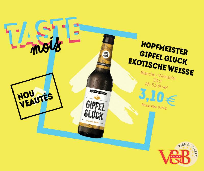 bière hopfmeister gipfel gluck v and b
