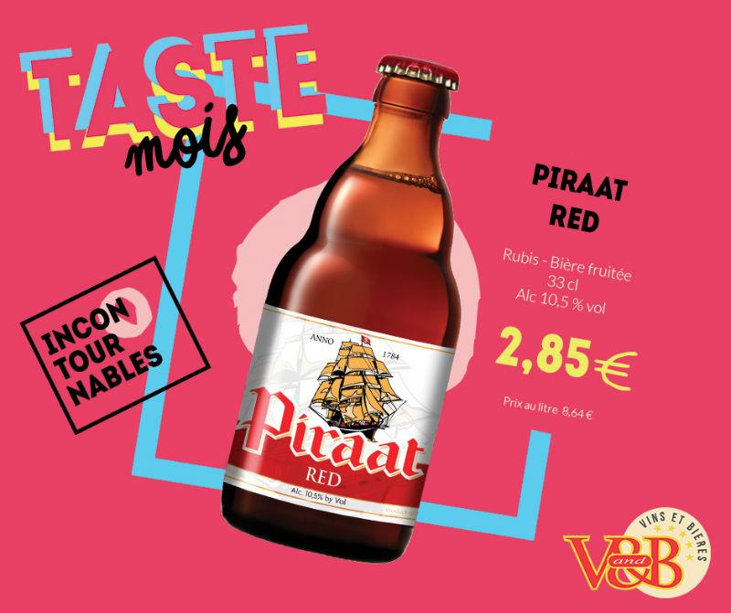 bière belge piraat red v and b