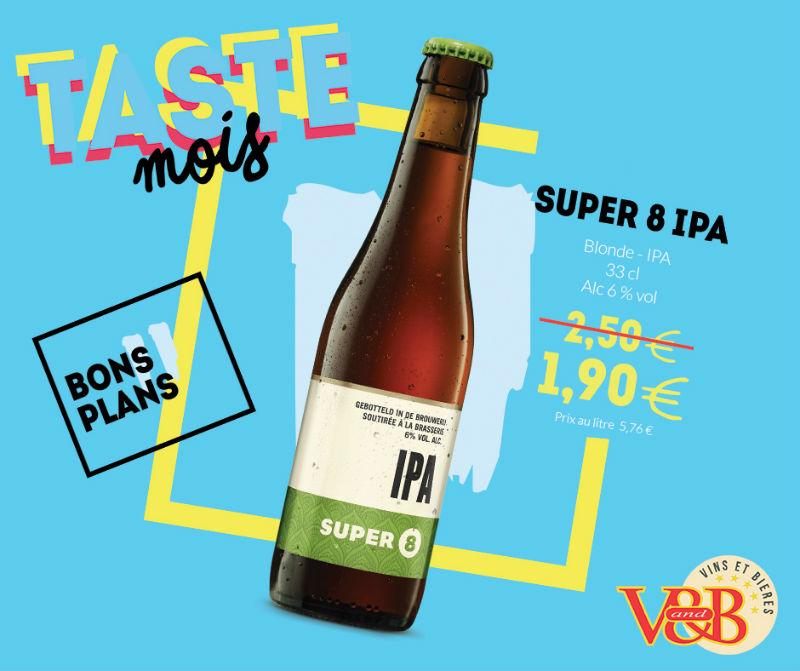 Bière belge SUPER 8 IPA V and B