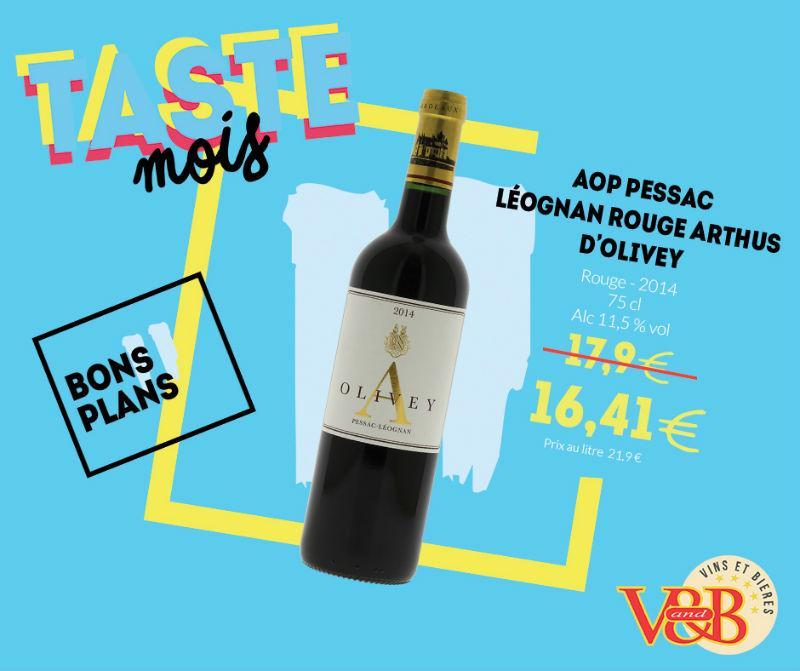 vin rouge AOP pessac V and B