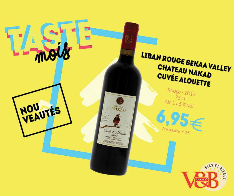 vin rouge liban chateau nakad
