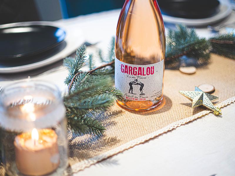 vin rosé gargalou Noël