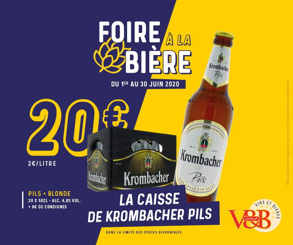 Foire à la bière 2020 - Caisse de Krombacher